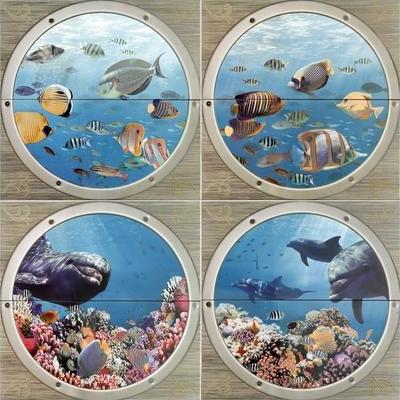 Mural Poseidon II панно (из 8-ми плиток 25*50) - главное фото