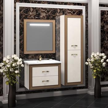 Мебель для ванной Карат 80 Бежевый/золото Opadiris-10875