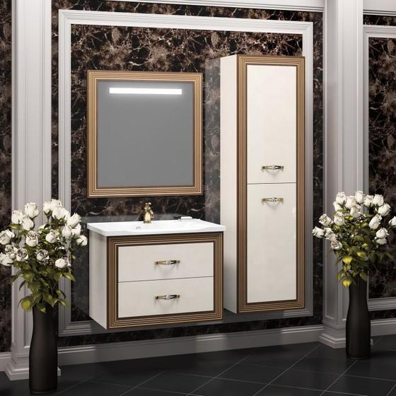 Мебель для ванной Карат 80 Бежевый/золото Opadiris - главное фото