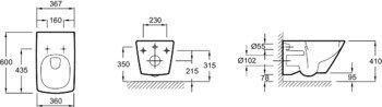 Унитаз подвесной ESCALE сиденье микролифт /60х37,5/ (E1306-00)-12941