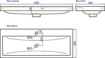 Инфинити Т10 белый КОМПЛЕКТ подвесной с раковиной Infinity 100 (Inf.01.10/001) -19797