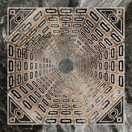 Декор Арката серый тёмный лаппатированный