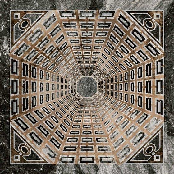 Декор Арката серый тёмный лаппатированный - главное фото