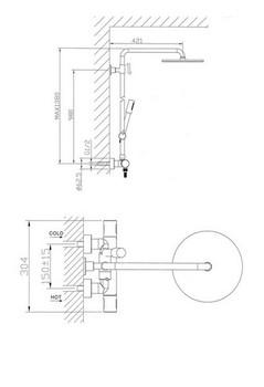 Душ.комплект с термостатом AQUALUX AL1145-18687