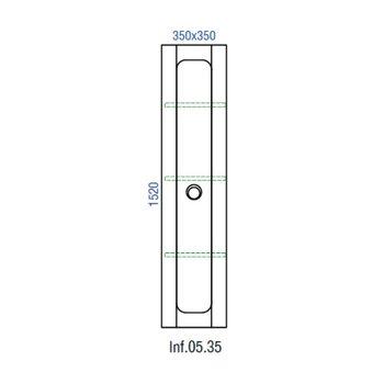 Пенал подвесной Инфинити П35/BLK,черный Inf.05.35/BLK -12318