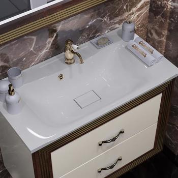 Мебель для ванной Карат 80 Бежевый/золото Opadiris-13234