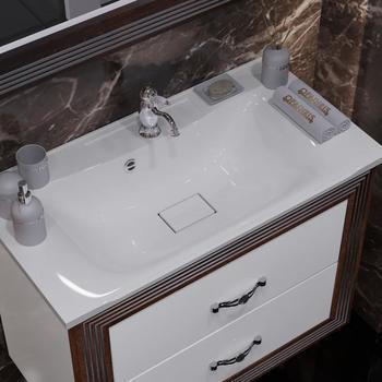 Мебель для ванной Карат 80 Белый/серебро Opadiris-13176