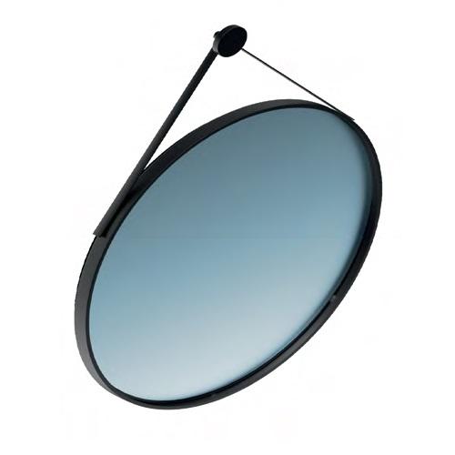 Зеркало CONO круглое 70 черный матовый - главное фото
