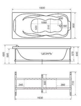 Акриловая ванна Triton Цезарь-10418