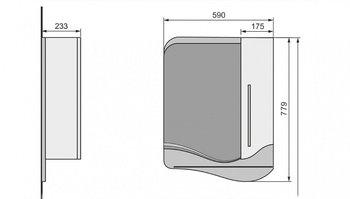 Зеркало-шкаф IVA 60 -15019