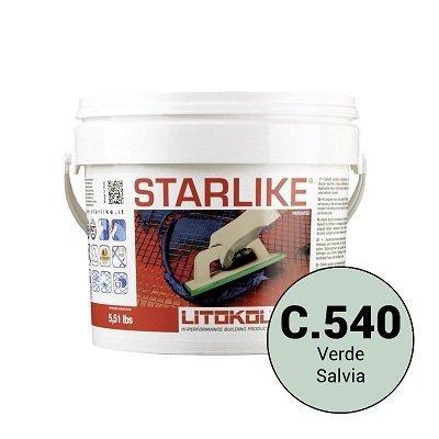 Эпоксидная затирка Starlike C.540 Verde Salvia 2,5 кг