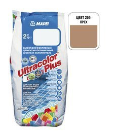 Затирка Ultracolor Plus №259(орех) 2 кг.