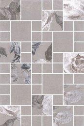 Декор Александрия серый мозаичный