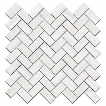 Декор Контарини белый мозаичный-5856