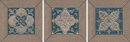 Декор Меранти пепельный мозаичный