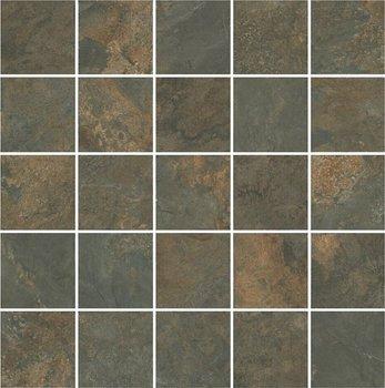 Декор Рамбла коричневый мозаичный-4553