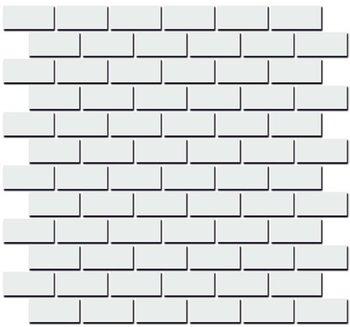 Декор Турнон белый матовый мозаичный-5201