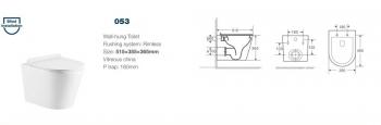Унитаз подвесной CS53EP  -21574