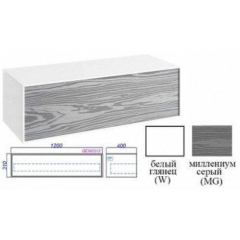 Genesis тумба подвесная 120, цвет миллениум серый GEN0312MG -12462