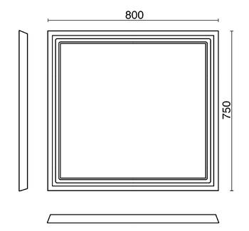 Зеркало POMPEI 80 см, белое-13844