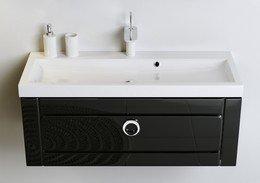 Инфинити Т8 черный КОМПЛЕКТ подвесной с раковиной Infinity 80 (Inf.01.08/001/BLK)