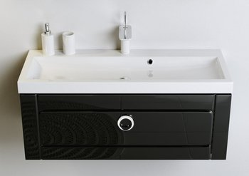 Инфинити Т8 черный КОМПЛЕКТ подвесной с раковиной Infinity 80 (Inf.01.08/001/BLK) -12297