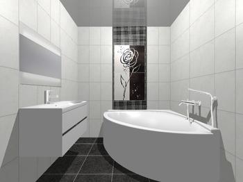 Decor Zinder Negro декор 33,3*60 (из 4-х) -17353