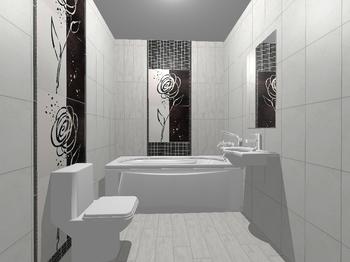 Decor Zinder Negro декор 33,3*60 (из 4-х) -17356