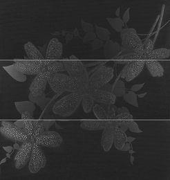 Flower Antracita декор стена (из 3-х плиток 31,6х90), 94,8*90