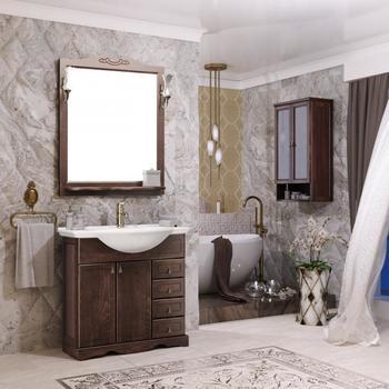 Мебель для ванной Клио 75 Орех антикварный Opadiris-13293