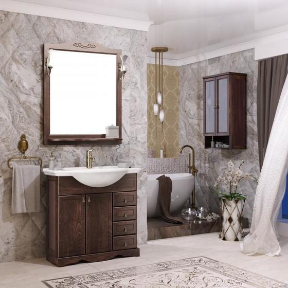 Мебель для ванной Клио 75 Орех антикварный Opadiris - главное фото