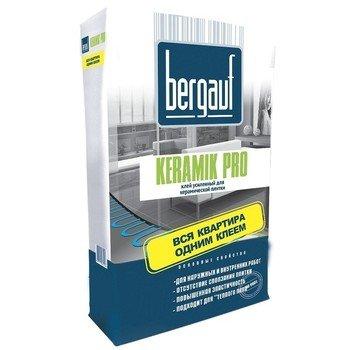 """Бергауф Keramik Pro 25кг клей для плитки усиленный используется в систему """"теплый пол"""" -15733"""