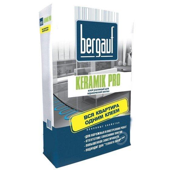 """Бергауф Keramik Pro 25кг клей для плитки усиленный используется в систему """"теплый пол""""  - главное фото"""