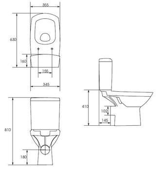 Компакт Carina New Clean On 011 3/5,кр.дюр. slim lift,easy-off, белый-11479