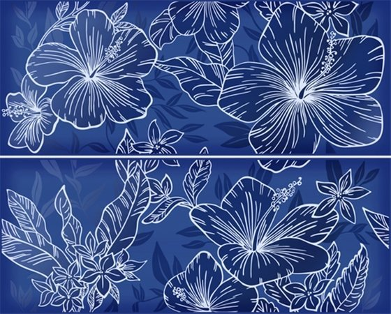 Elissa Blu Fiore панно из 2 частей - главное фото