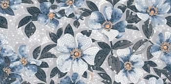 Розелла синий декорированный лаппатированный-19096