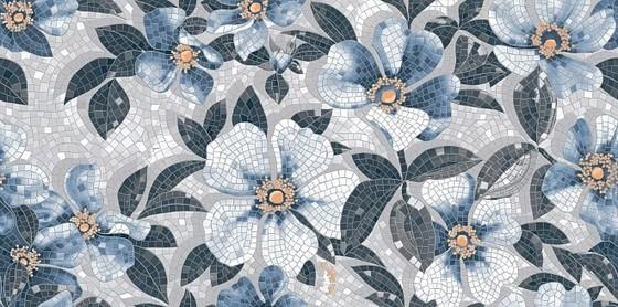 Розелла синий декорированный лаппатированный - главное фото