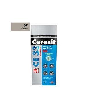 Затирка Ceresit СЕ 33 Super серый 2 кг-9801