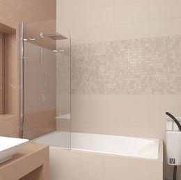 Шторка на ванну 700x1500 PL80-70-01-19C1 стекло прозрачное 6 мм