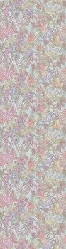 Обои Джангл мотив голубой цветной-20094