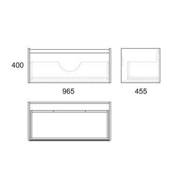 Тумба Malaren 100, 1 ящик, белая OW03.04.05-17618