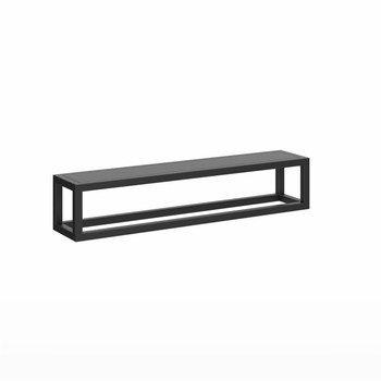 Полка PLAZA Next металлическая с крышкой 35 черный матовый-14260