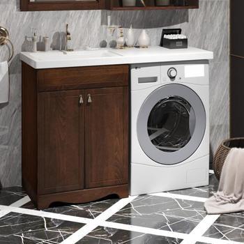 Мебель для ванной Клио под стиральную машину Орех антикварный Opadiris-14716