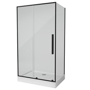 TOLEDO RC120.10 NEGRO Душевое ограждение прямоугольной формы с одной раздвижной дверью-16937