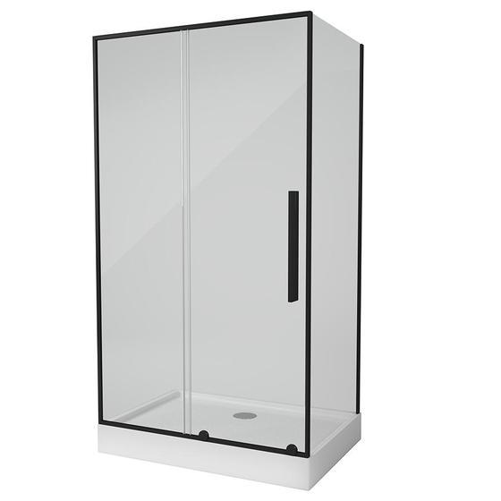 TOLEDO RC120.10 NEGRO Душевое ограждение прямоугольной формы с одной раздвижной дверью - главное фото
