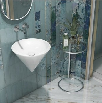 Зеркало CONO овальное 42 белый-14916