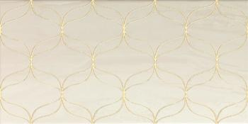 Ethereal Gold Geometric Decor Light Beige Glossy-10880