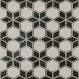 Декор Фреджио 4 черно-белый