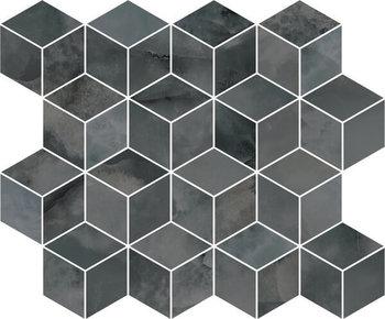 Декор мозаичный Джардини серый темный-17658