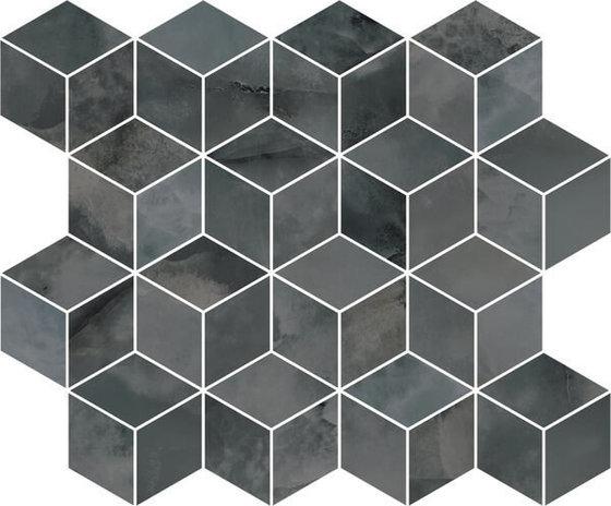 Декор мозаичный Джардини серый темный - главное фото